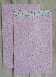 Zakje / Floral statement flow / 12 x 19 cm