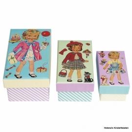 Doosjes |  Dress up dolly | set 3 stuks