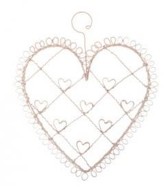 Kaarthouder - hart klein pink