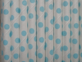 Rietjes / Papieren / wit met licht blauwe stippen 62460