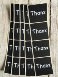 Sticker schoolbord - Thanx / 20 stk