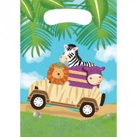 Safari Adventure / kinderfeest Uitdeelzakjes