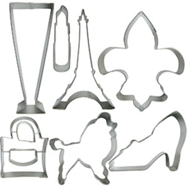 Uitsteker set - cookie cutters / Paris / 7dlg