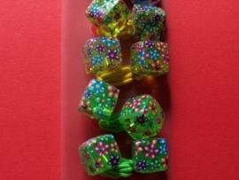 Haarelastiek / Bloemen kubus