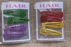 Haarklipje /  Glitter duo