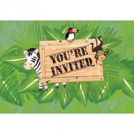 Safari Adventure  / feest uitnodigingen