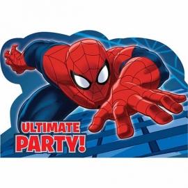 Spiderman / feest uitnodiging