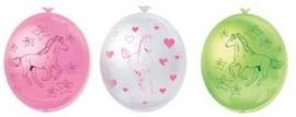 Paarden / kinderfeest  ballonnen / 6 stk