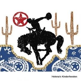 Cowboy western / feest uitnodigingen