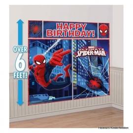 Muurdecoratie / Spiderman feest