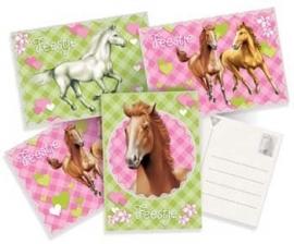 Paarden / kinderfeest uitnodigingen / 6stk