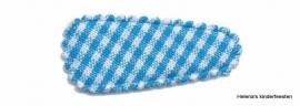 Haarkniphoesje | blauw-wit geruit 3 cm
