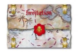 Piraat / uitnodiging schatkaart