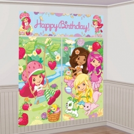 PP Strawberry Shortcake Muur decoratie Happy Birthday