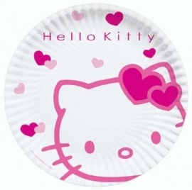 Hello Kitty kinderfeest bord 23 cm