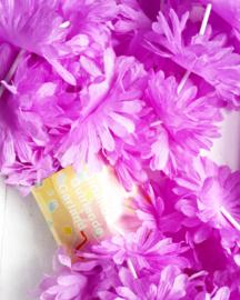 Slinger / bloemen / lila