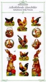 ME 8073 Poezie plaatjes stickers paashaas