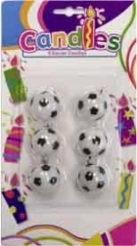 kinderfeest Voetbal verjaardagstaart kaarsjes