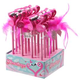 Potlood met gum / Flamingo met staart