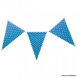 CE Kartonnen vlaggenlijn blauw met stippen
