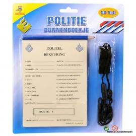Politie bonnenboekje set