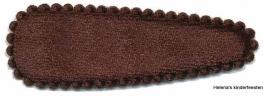 Haarkniphoesje | fluweel bruin 5 cm