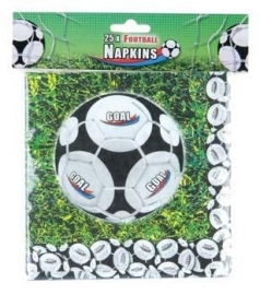 Servetten / Kinderfeest  Voetbal  goal