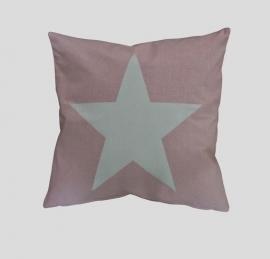 Kussenhoes / Rose met grote ster