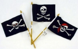 Zwaaivlaggetje / Piraten zwaaivlag mini