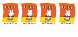 Nijntje/ feest vlaggenlijn vierkant