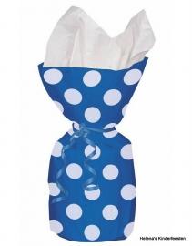 SE Cellobag blauw witte stip