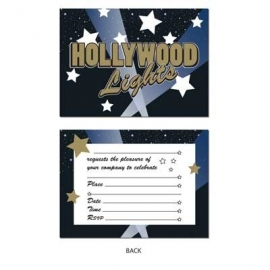 Hollywood Lights / party uitnodigingen