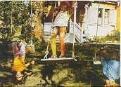 Kaart / Pippi Langkous /  op de schommel