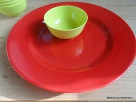 MM Melanie groot serveer bord rood