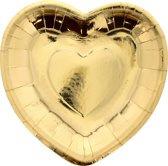 Borden hart goud / 16cm / 8stk