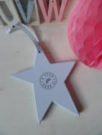 "Houtenhanger - Ster mini blauw ""A star is born"""
