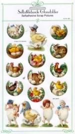 ME 8061 Poezie plaatjes stickers kuiken in dop