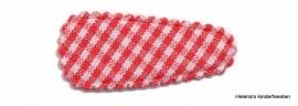 Haarkniphoesje | rood-wit geruit 3 cm