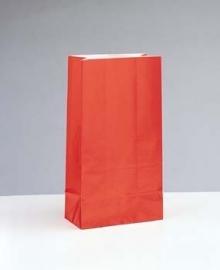 SE Papieren Zakjes / party - rood