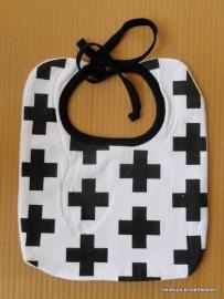 Slabbetje - Baby / zwart/wit BlackCross