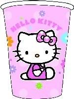 Hello Kitty flower , kinderfeest bekers