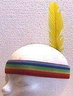 indianen hoofdband met veer / girl