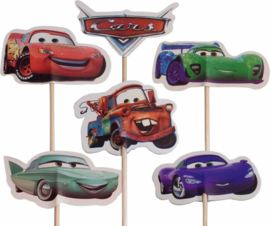 Cupcake prikkers / Cars / 12 stk