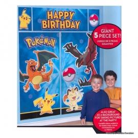 """Pokemon / feest """"happy birthday""""muur decoratie"""
