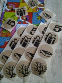 Sticker - sluitzegel | Sinterklaas | kraft zwart design | 20stk
