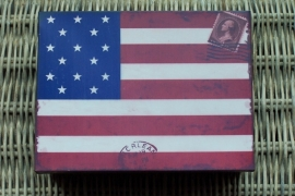 Zinken doos / Stars & stripes
