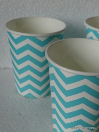 TI Papieren Bekers Chevron Mint