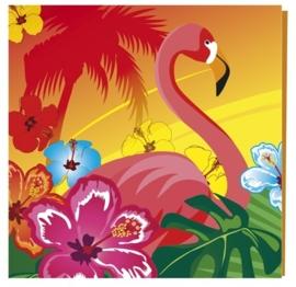 Hawai Flamingo feest servetten / 12 stk