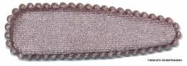 Haarkniphoesje | fluweel zilvergrijs 5 cm