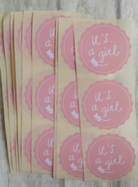 Stickers / It's a girl / 20 stk